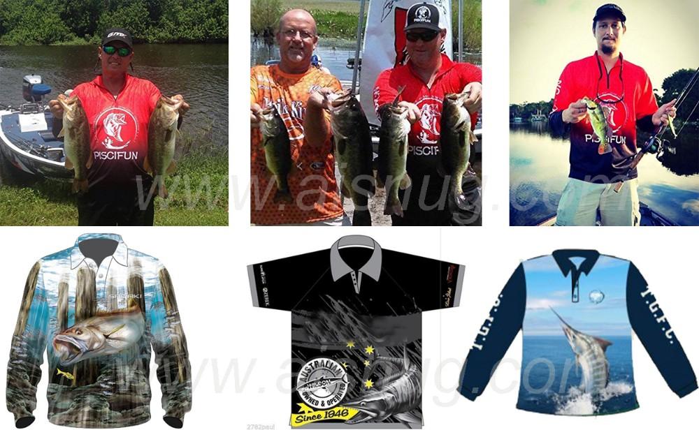 custom new design quick dry sublimated print 100% polyester uv dye sublimation fishing shirt