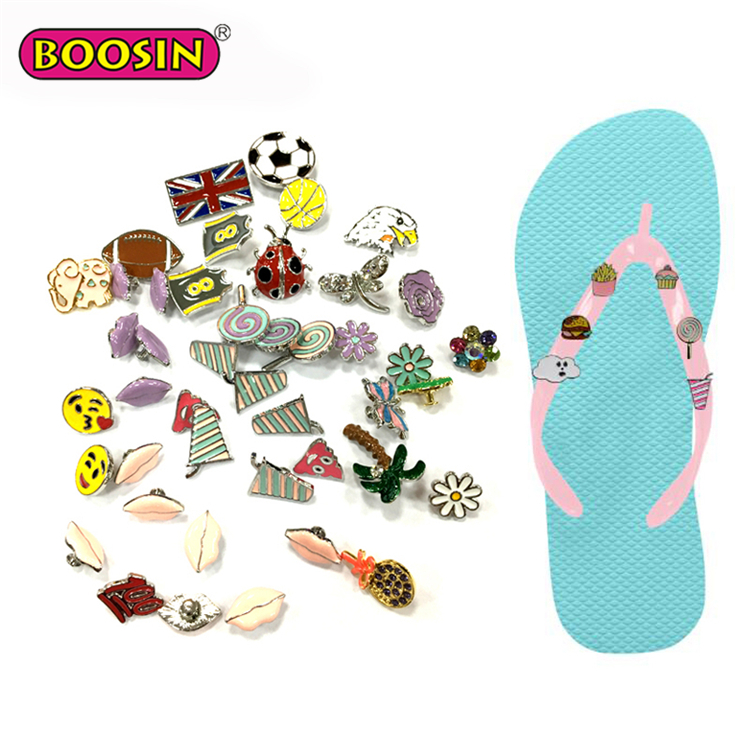 26a23618e Custom Personalized Bulk Flip Flops Metal Decoration Slippers Accessories  for men making