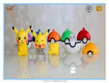 Usb flash drive pvc cheap carton pendrive Pokemon go game shape custom cheap usb