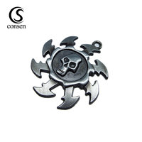 Skull shape making custom metal key chain hang tag for decoration