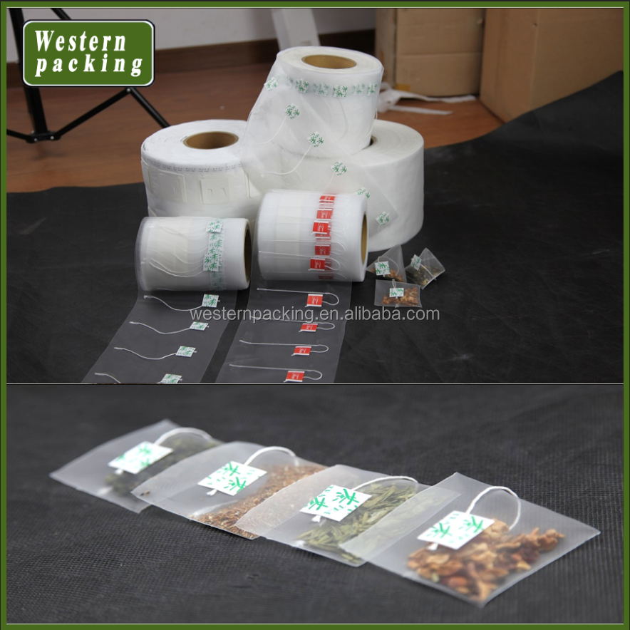 OEM ultrasonic sealable packaging nylon bags packing <strong>film</strong>, pyramid tea bags roll <strong>film</strong>