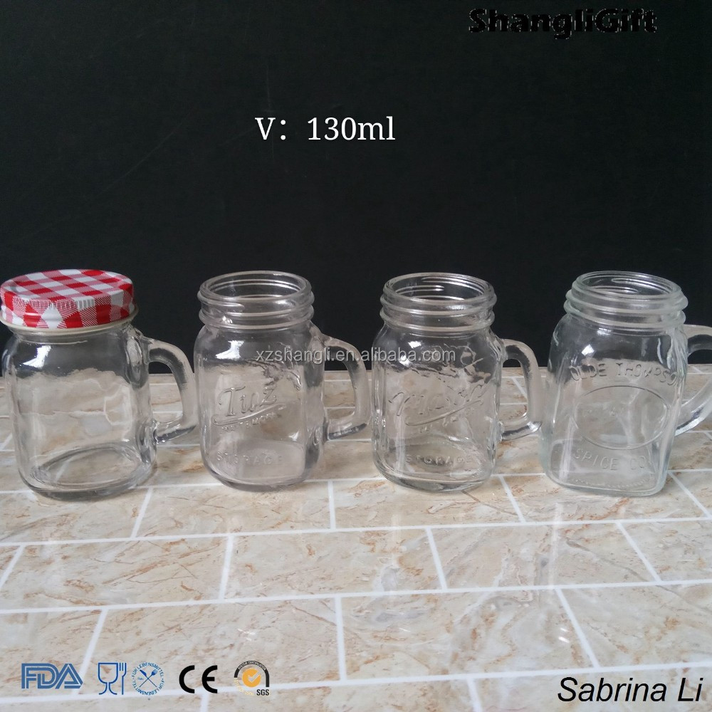 1oz/40ml 2oz/60ml 4oz/120ml square shape honey glass jars and handle