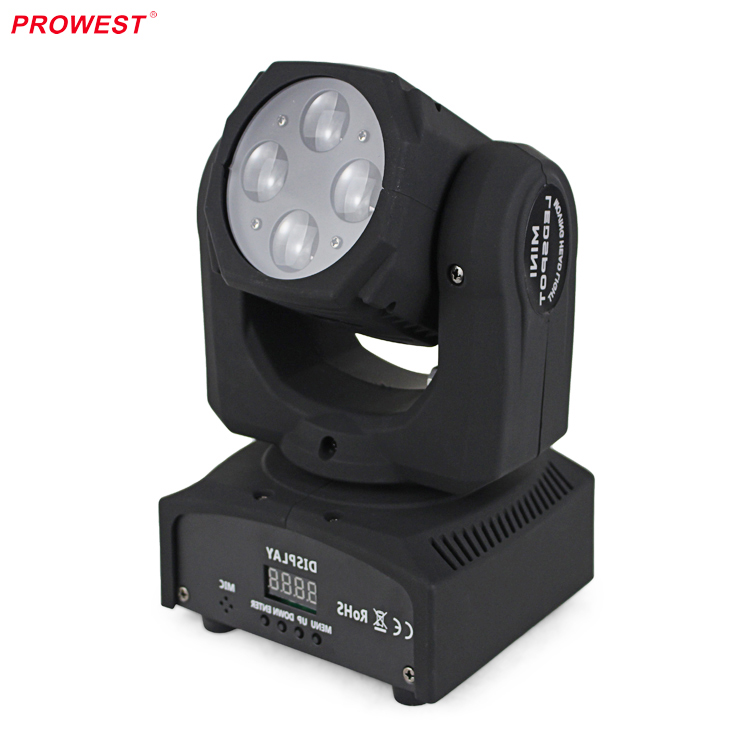 Wholesale LED mini Super Beam 4*10W RGBW 4in1 Moving Head Light for Wedding
