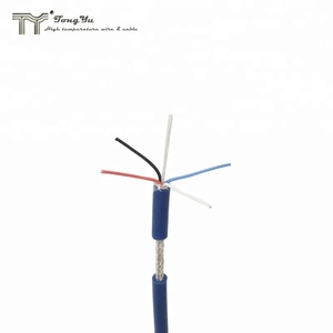 5 core 6mm power cable, teflon fep insulated and silicone rubber sheathed, tinned copper