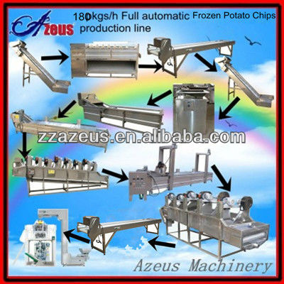 full automatic frozen type french fries potato flakes production line/chips making machines price