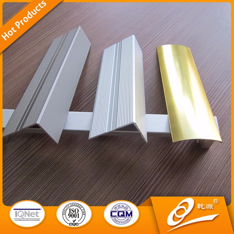 Chrome,gold finish Aluminum corner tile trim/quarter round tile corner trim