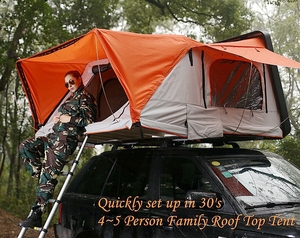 Camping 4 Person family hard shell car roof top tent