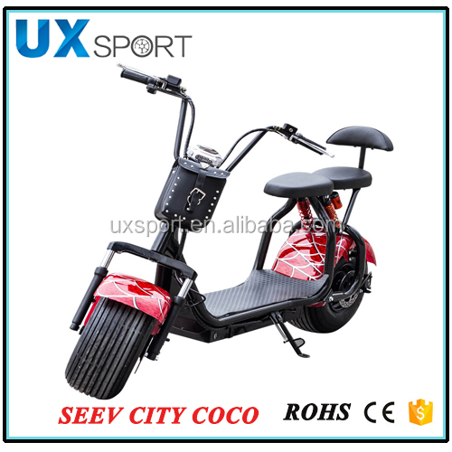 EcoRider Two Seat Harley Motor Electric Scooter City Coco 1000w with one year warranty