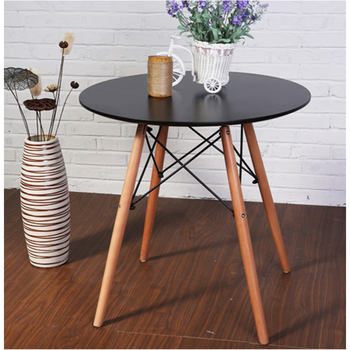 Round design small scandinavian wooden dining table