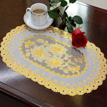 oval vinyl lace placemats