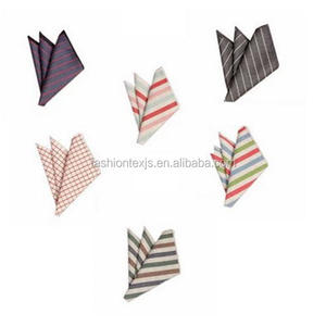 customized 100% Cotton Dyed Satin Bordered Mens Handkerchief