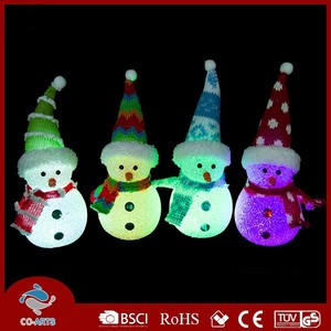 LED snowman shaped decorative christmas gift