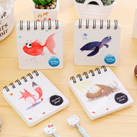 DIY Cute Kawaii Flower Coil Sketching Book Cartoon Animal Notebook For Kids Paint Draw Korean Stationery