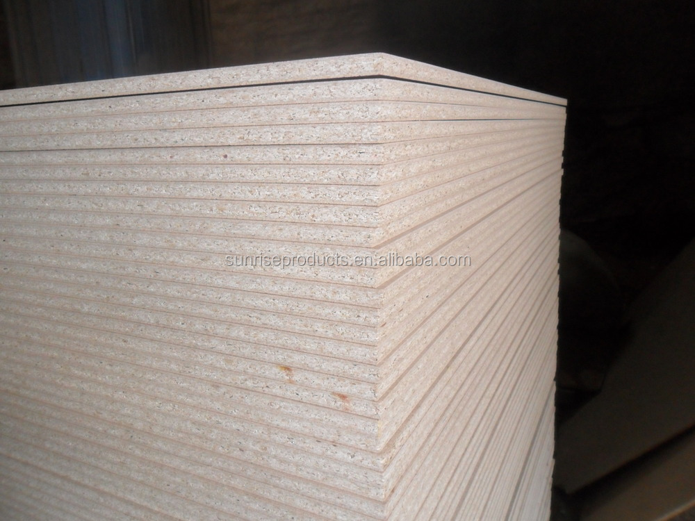 Hot sell melamine laminated chipboard particle board in for Particle board laminate finish
