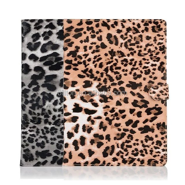 2016 new ultra thin Leather Flip cover for ipad pro 9.7 tablet case Leopard pattern wallet flip case for ipad pro leather case