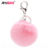 Keychain Factory Sell Fashion Design Rabbit Fur Charm Pompom Keychain