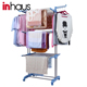 Factory supply hotel towel rack / 3 tier foldable laundry drying hotel clothes rack