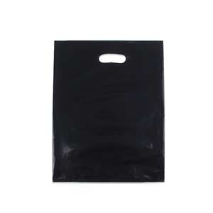 Packing Pe Recycle Carry Design Shopping Custom Packaging Biodegradable Black Plastic Bag