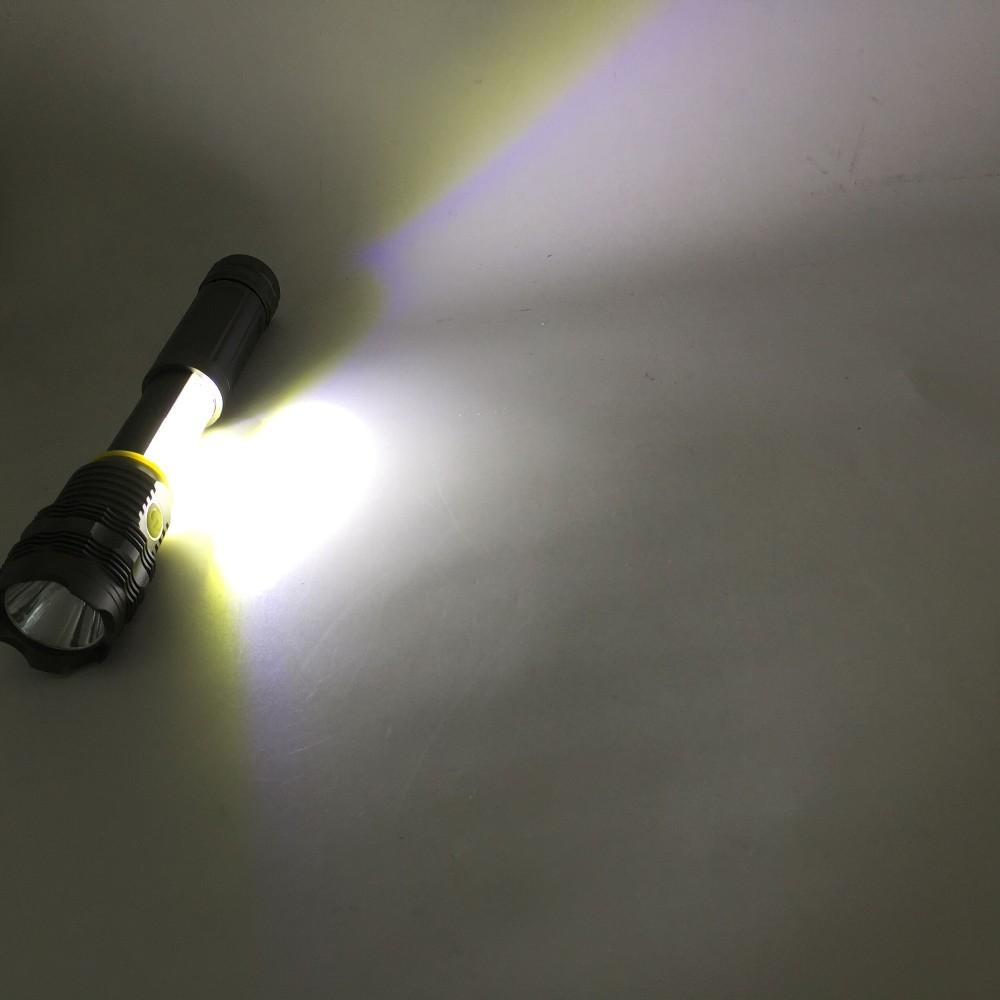 LED Aluminum Flashlight 250 Lumens COB/SMD Work Light Magnetic Base Worklight