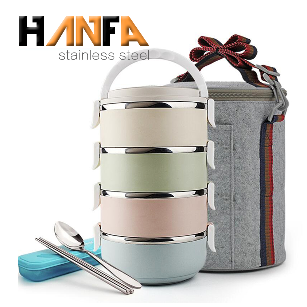 Bambini thermos lunch box colorato tiffin lunchbox dell'acciaio inossidabile bento lunch box