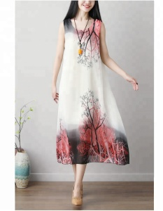 Chinese ethnic print dress chinese traditional fancy dress