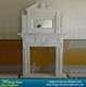 natural decorative freestanding white marble gas fireplace