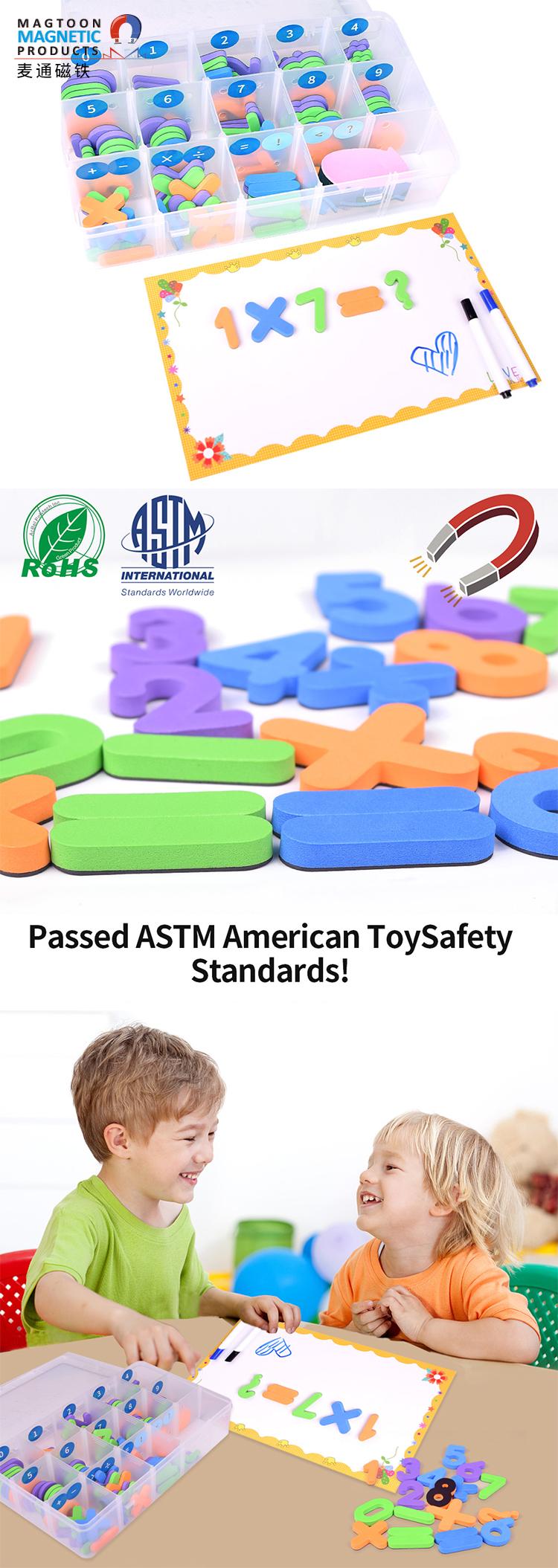 Custom EVA Foam Magnetic Letters and Number soft magnetic refrigerator sticker kids toys