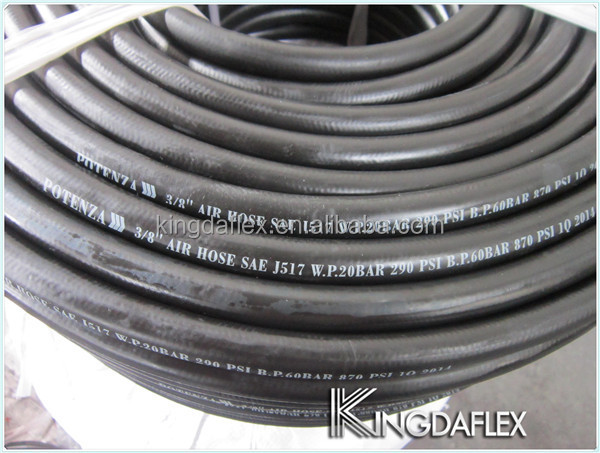 SAE J2064-E R134a Rubber Air Conditioning Flexible Hose for Automobile