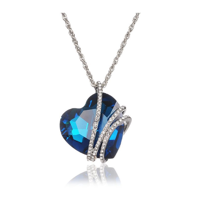 Luxury Big Austrian Crystal Titanic Heart Love Maxi Boho Choker Necklaces&Pendants for Women Fashion Jewelry Wholesale