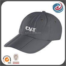 custom outdoor easy taking foldable polyester sports caps