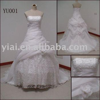 High Quality Wedding Gown Paypal Drop Ship Yu001