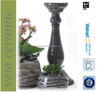 ceramic decorative candle holder pedestal stand