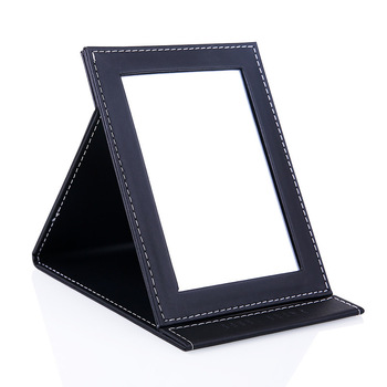 Promotional hot sale Leather folding-up standing mirror