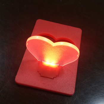 Valentines Day Gifts Red Heart Shape Led Light Up Pocket Light