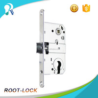 85mm Safe glass mortise center door key lock