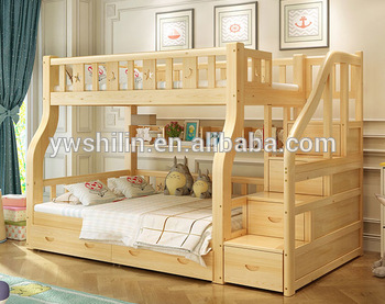 New Design Kids Bunk Bed Solid Wood Double Deck