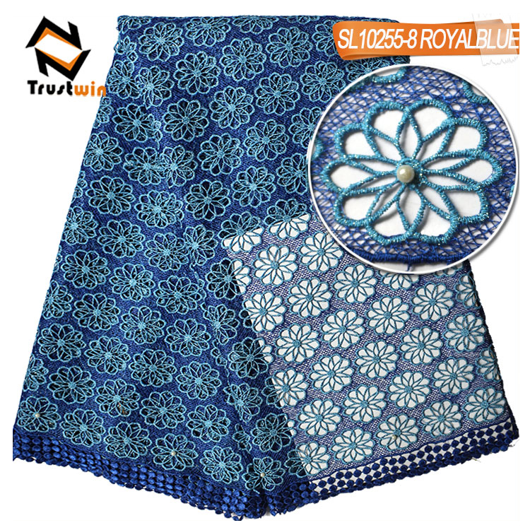 trustwin lace royal blue african cord lace