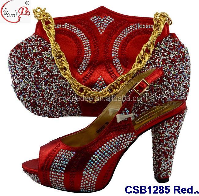 and wedding shoes ladies bag fashion match CSB1285 to high quality bag women shoes and black Silver gwAXUv