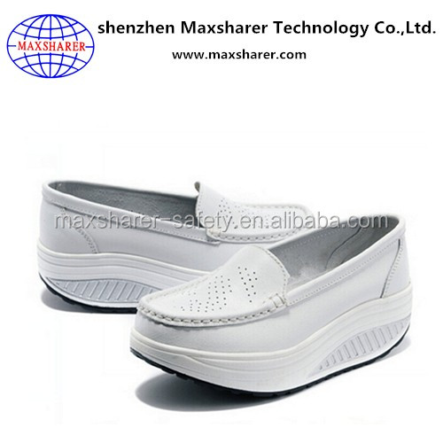 low price leather comfort high heel platform shoes made in China shoe factory