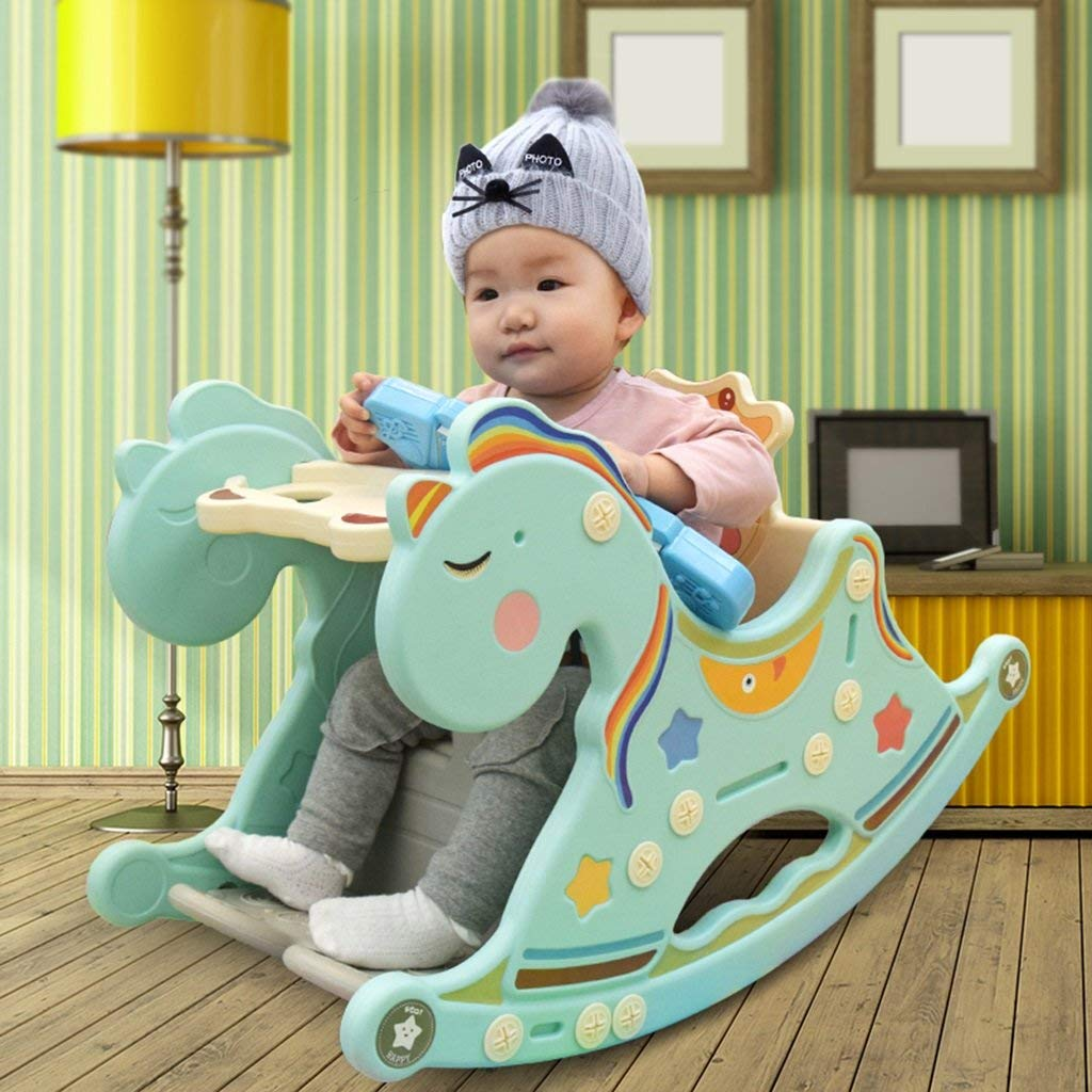 Li Na Home Chairs Seats Rocking Chairs Baby Toy Rocking Chair Troy horse cradle chair Multifunctional baby rocking horse practicing sitting position toy Multifunctional rocking chair table