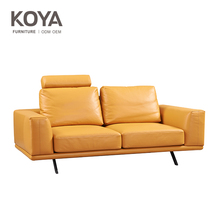 High class Genuine Leather sofa with High Density Foam and Feather
