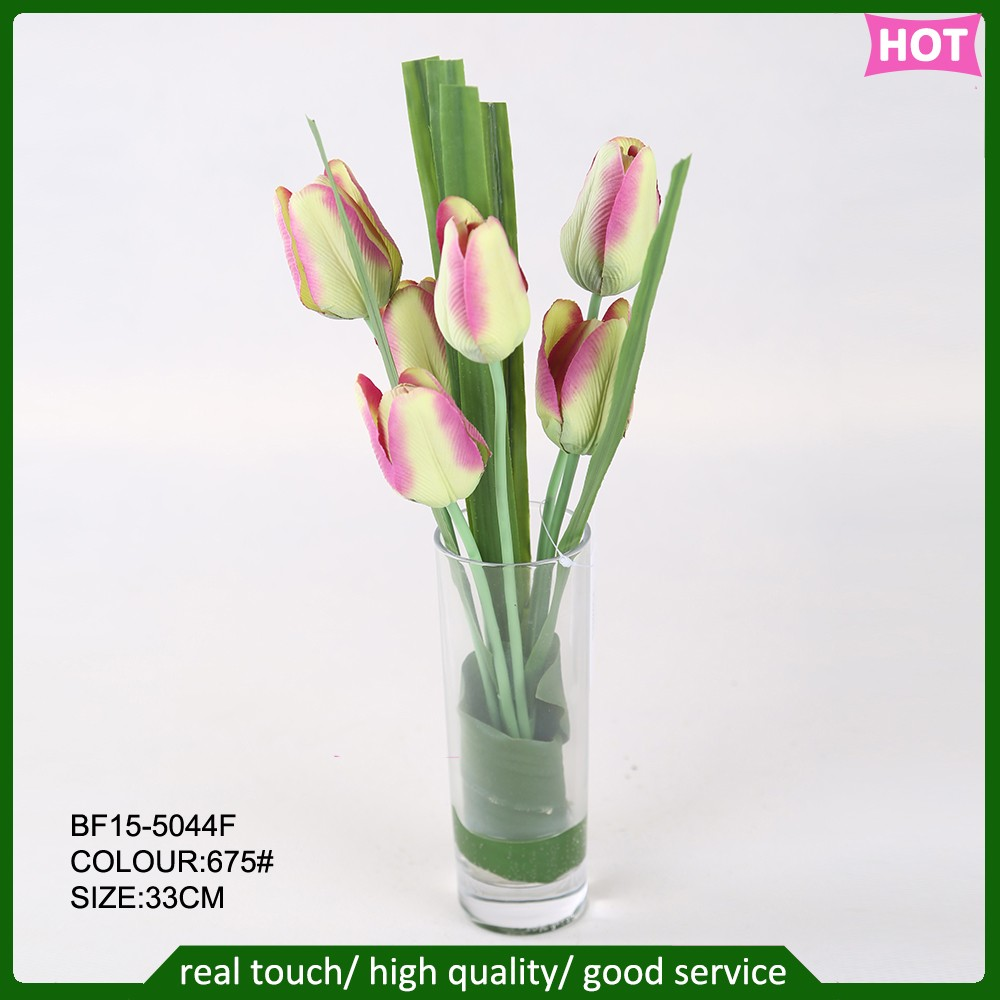 New Arrival Artificial Tulip Flower In Gl Vase For Home Decoration Flowers Making