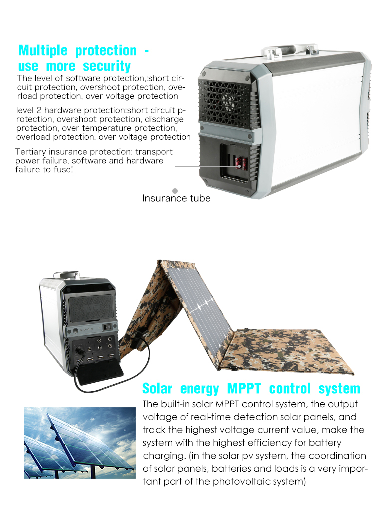 2017 new product 500W and 700W portable solar generator with 144000mah lithium battery for outdoor and home using