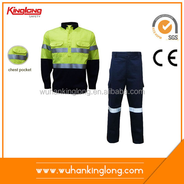 Top brand blue suit pant and coat advanced material suit