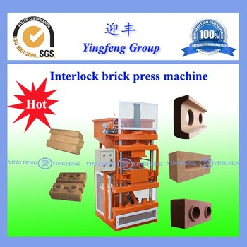 hot sale in China YF1-10 hydraulic press brick machine
