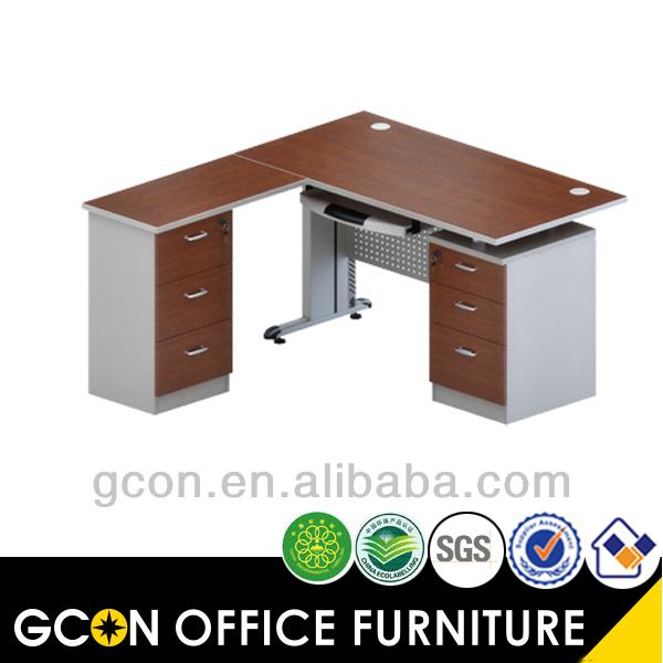 Muebles de oficina en forma de l escritorio de melamina for Muebles de oficina en l