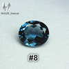 Russian Material Synthetic Oval Cut London Blue Nano