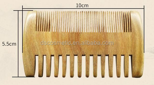 Natural Green Sandalwood Wide Tooth Wooden Beard Comb
