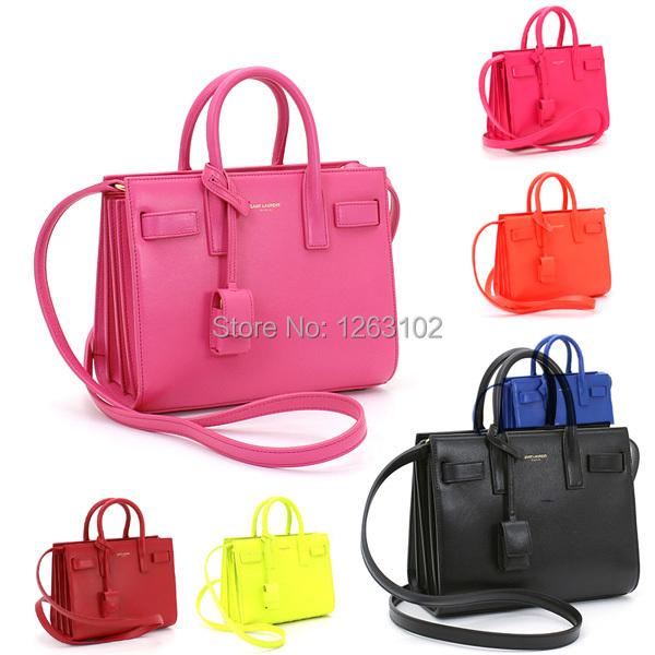 New 2014 Famous Designer Brands YS Handbags Genuine Leather Women Message  Bags Saint Sac De Jour 207ea149a9b