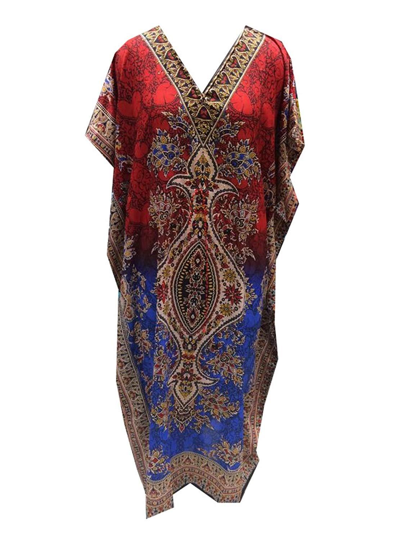 f78aaf61cfb Get Quotations · Indian Cottage Women's Long Kaftan Dress Maxi Caftan Dress  Gown Top Night Dress